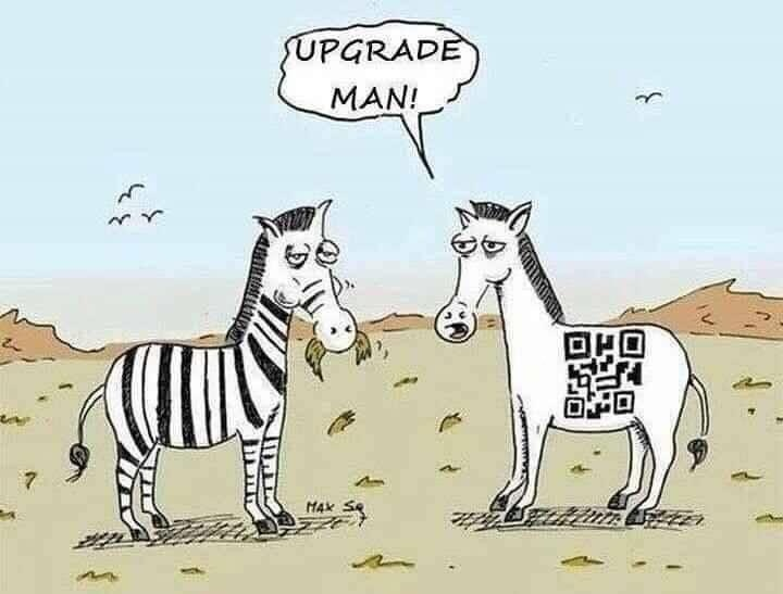 Upgrade man!